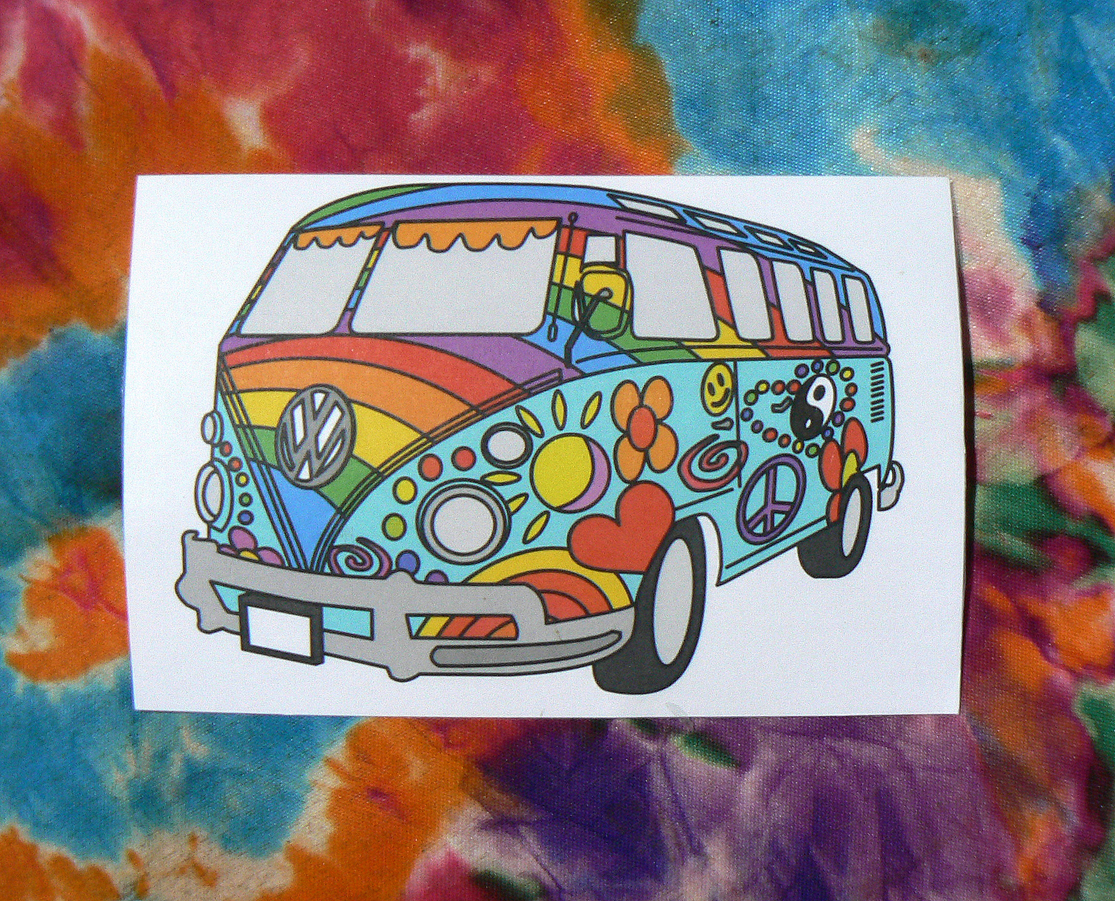 VW Hippie Bus Sticker